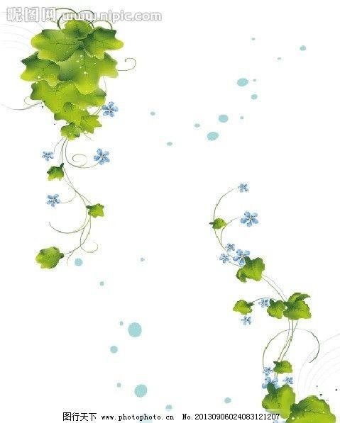 蔓藤 矢量素材 花边 边框 cdr 对角框 背景 点缀 绿色植物 蔓藤花