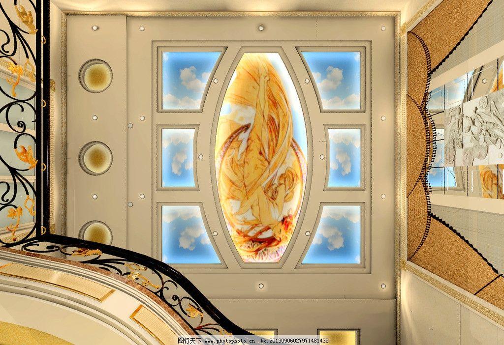 佩墅顶棚 顶棚 天花 欧式顶棚 楼梯间 佩墅吊顶 室内设计 环境