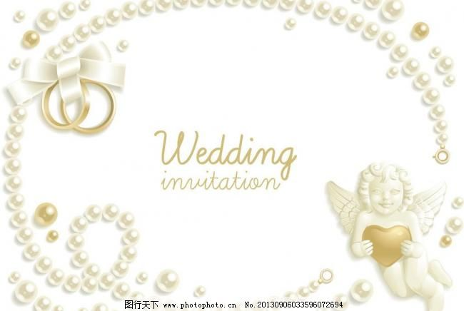 婚礼请柬背景矢量素材
