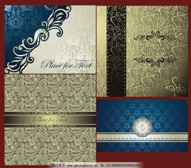 精美欧式古典花纹边框