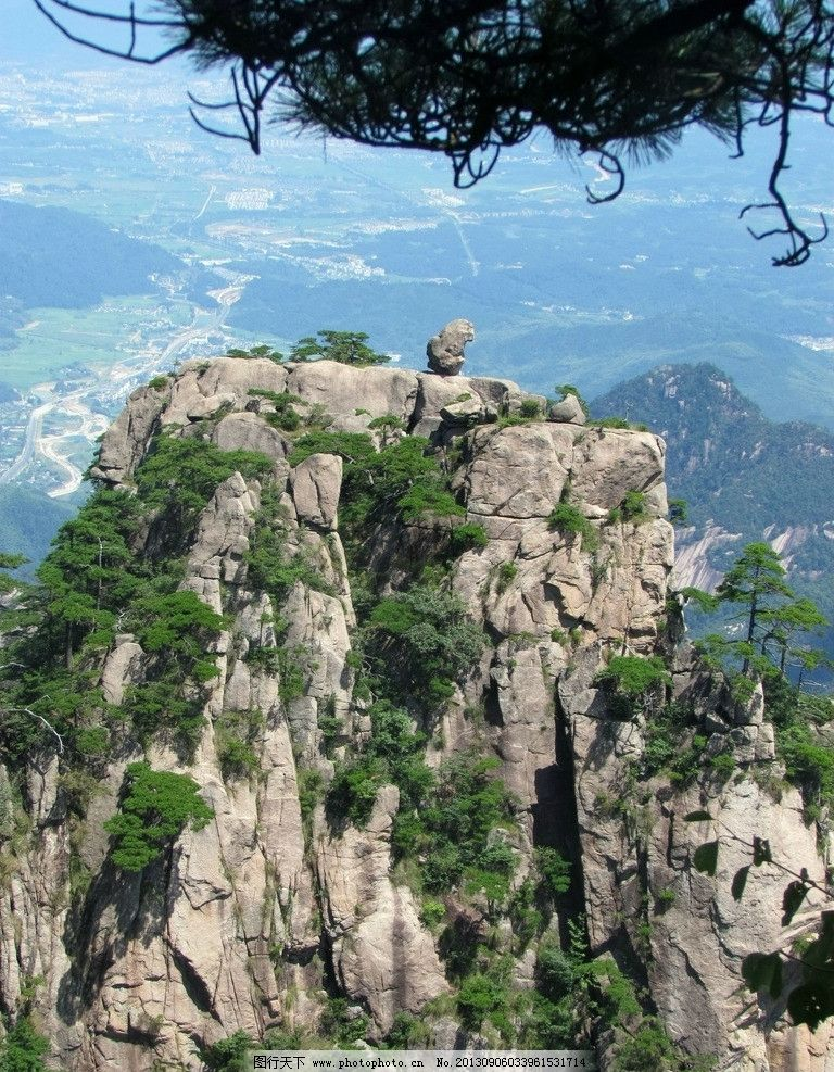 石猴观海 黄山 松树 险峰 奇石 黄山松 石头 安徽 山峰 旅游 摄影