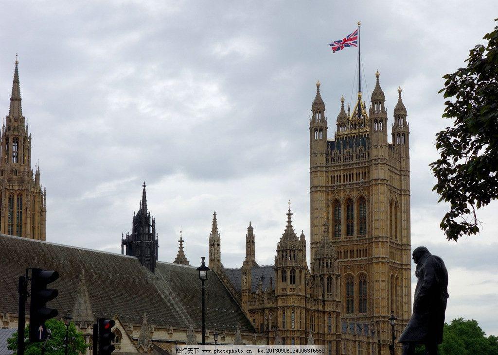 丘吉尔雕像伦敦塔