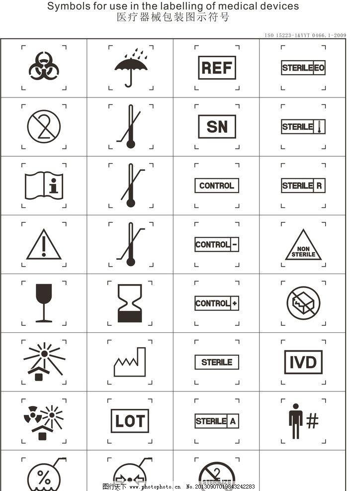 医疗器械包装图示符号 符号 包装 标志 标识 图示物 灭菌 医疗器械