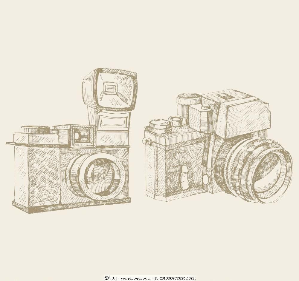 矢量手绘相机图片