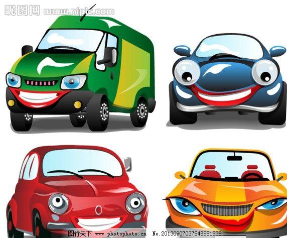 汽车矢量图 卡通 交通工具 汽车 小轿车 货车 卡通设计 广告设计 矢量