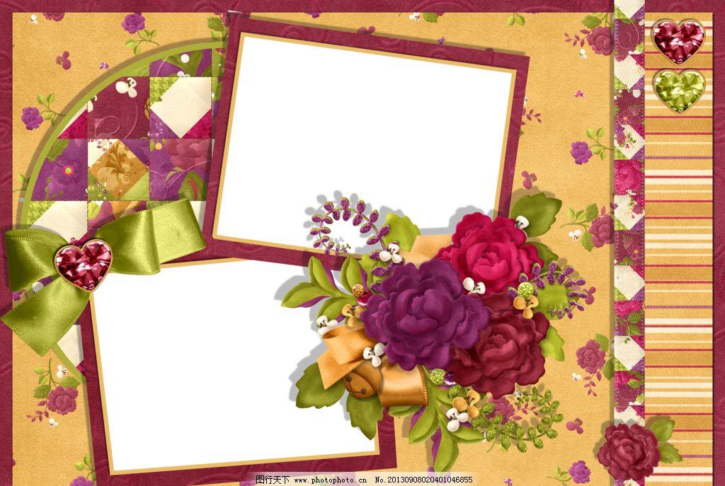 花样相框 png 免抠图 框架 花 蝴蝶结 叶子 边框相框 底纹边框 设计