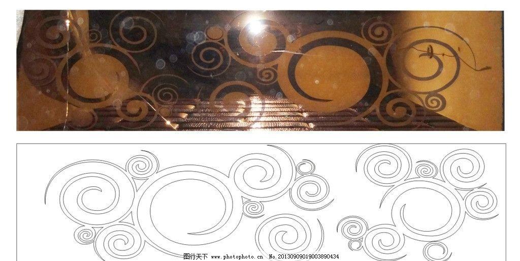 艺术玻璃 欧式花 圆环 矢量图 线条图 工艺玻璃 美术绘画 文化艺术 矢