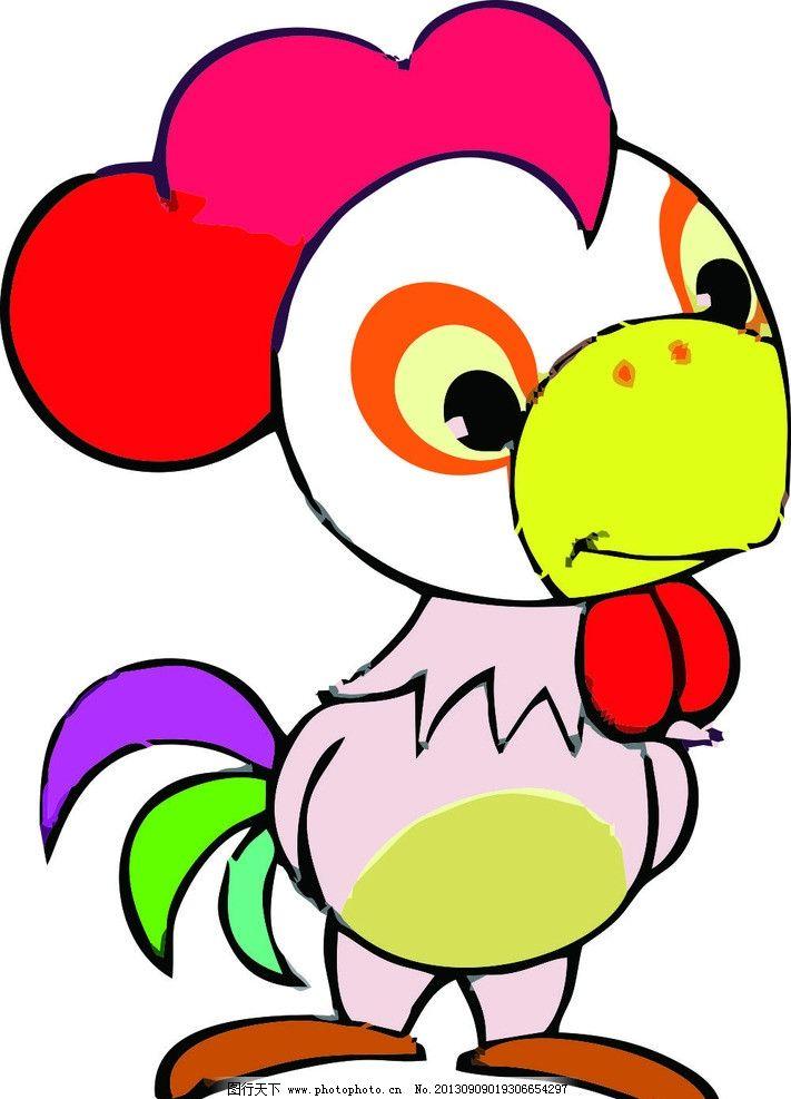 可爱卡通12生肖鸡图片