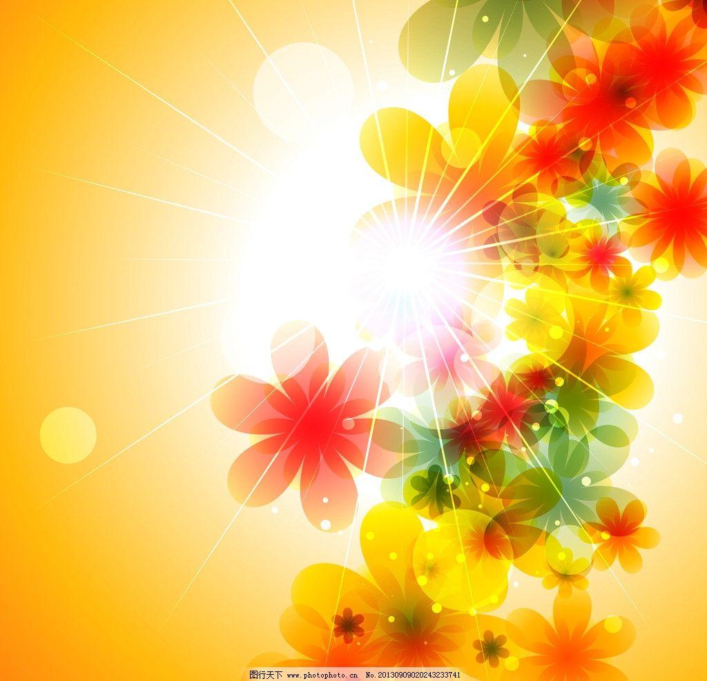 梦幻花朵背景 梦幻花朵背景矢量素材