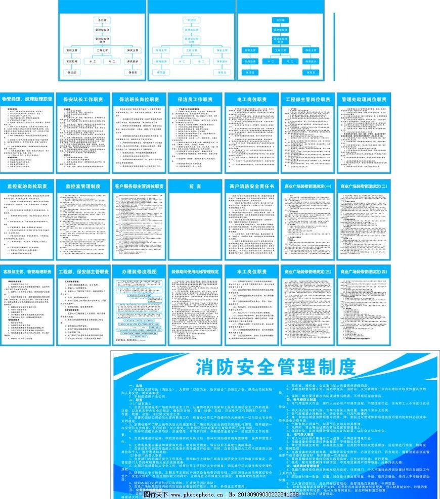 广场制度牌 广场 制度 责任 岗位 结构图 展板模板 广告设计 矢量 cdr