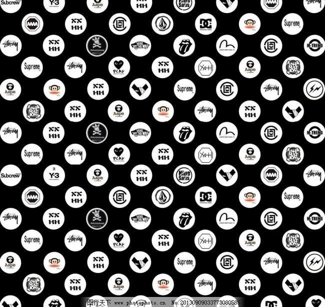 潮牌logo背景壁纸图片
