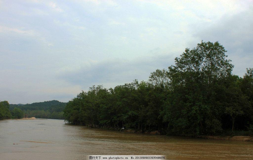 河流 南沙河水库 南沙河 小河 沙滩 风景 树木 绿树 流水 国内旅游