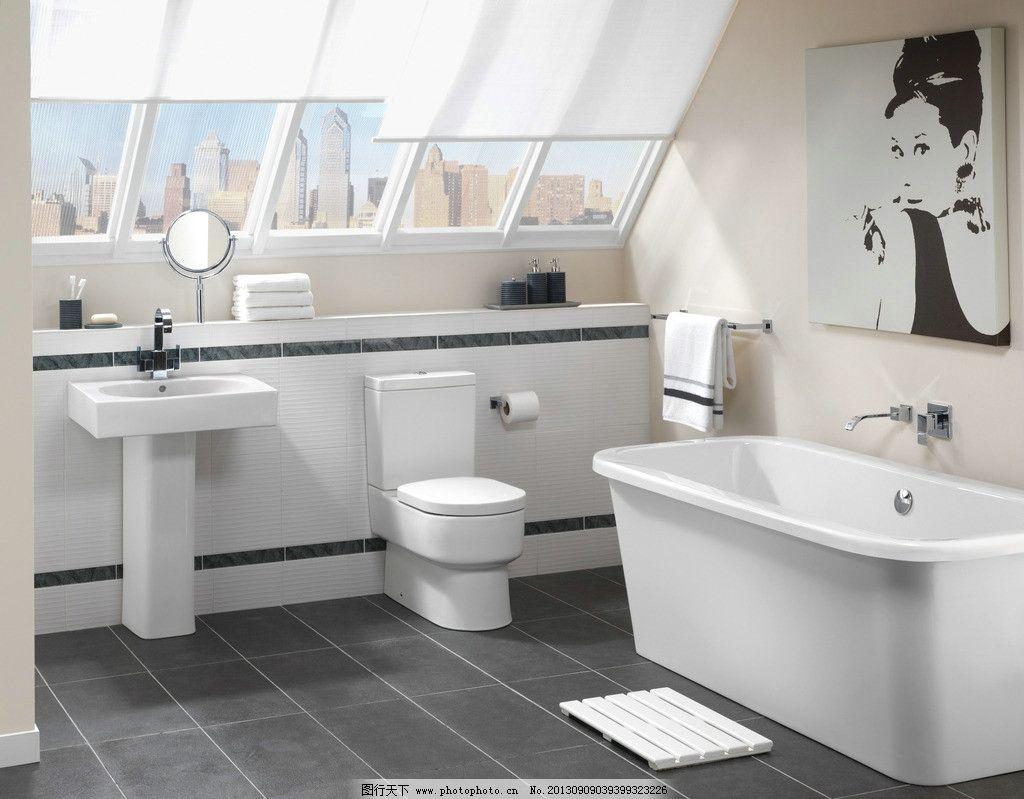 设计图库 环境设计 室内设计  卫浴 卫生间 浴室 浴缸 壁画 奥黛丽