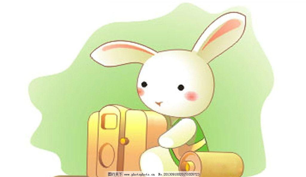 可爱兔子 可爱 兔子 绿色 盒子 耳朵 卡通设计 广告设计 矢量 cdr