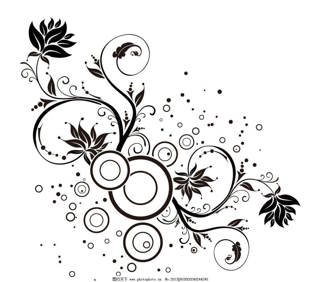 圆形花纹 动感线条 华丽曲线 条纹 炫彩 欧式花纹 古典花纹 潮流底纹