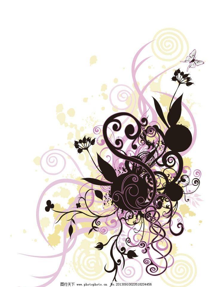 花纹 动感线条 华丽曲线 条纹 炫彩 欧式花纹 古典花纹 潮流底纹 海报