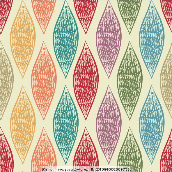 几何叶子形状背景矢量