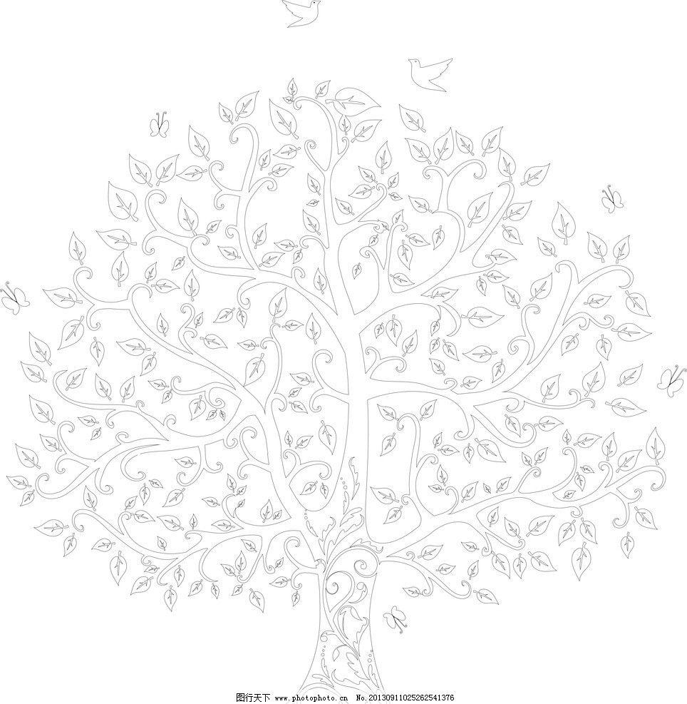 小树简笔画可爱