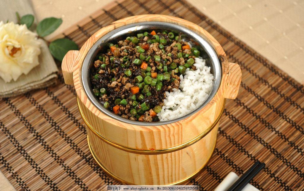 肉末木桶饭图片