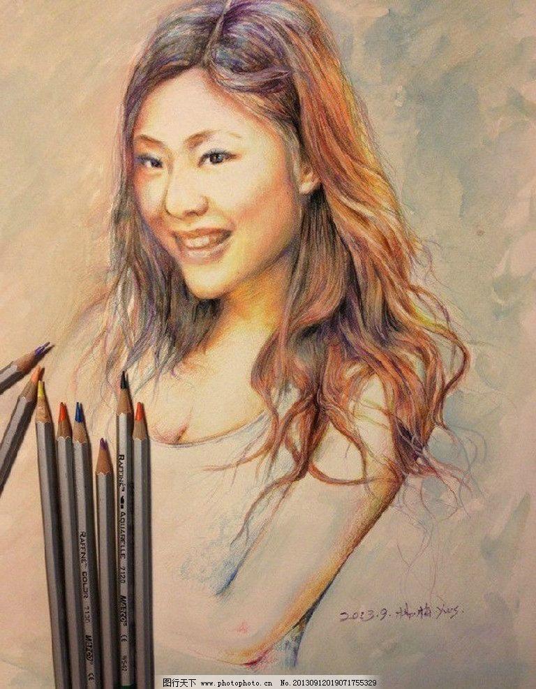 铅笔人物画 铅笔画 美女 原创 艺术 手绘 手绘铅笔画 绘画书法 文化