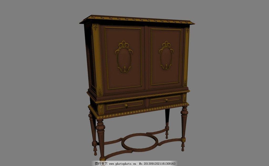 欧式柜子模型 柜子模型 柜子 欧式模型 家具 家具模型 欧式家具模型