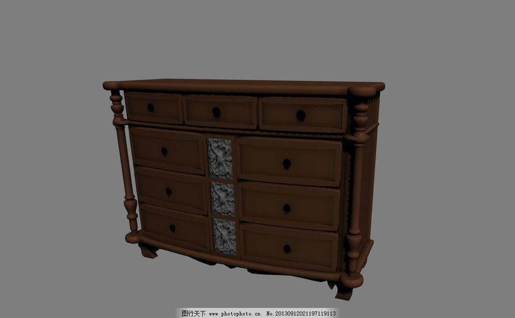 柜子模型图片图片