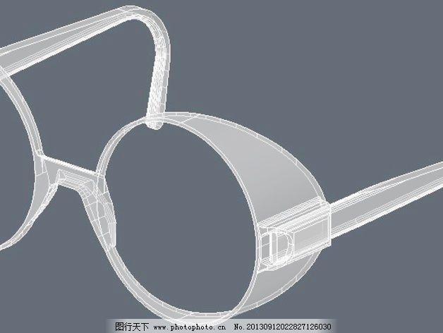 眼镜架镜头55mm滤波器免费下载 太阳镜 眼镜 3d打印模型 艺术时尚模型
