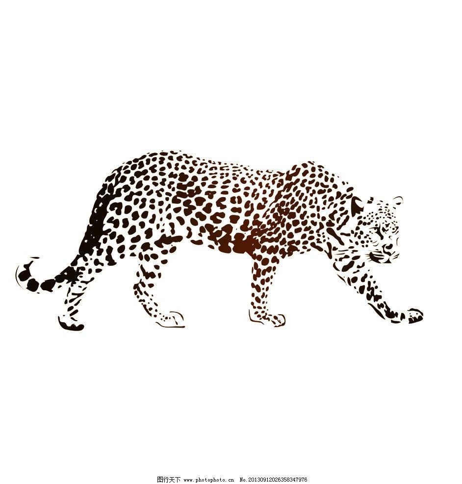 豹子 猛兽 豹纹 奔跑的动物 豹 其他 生活百科 矢量 ai