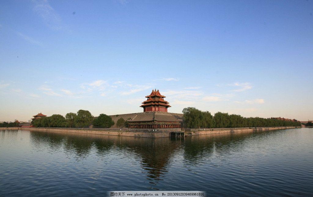 故宫 后海 售票处 红墙 琉璃瓦 古建筑 屋檐 全景 城门 黄瓦 广角图片