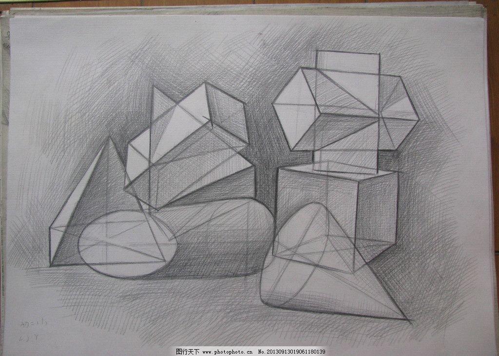 素描石膏人头像的绘画顺序步骤 学习结果图片