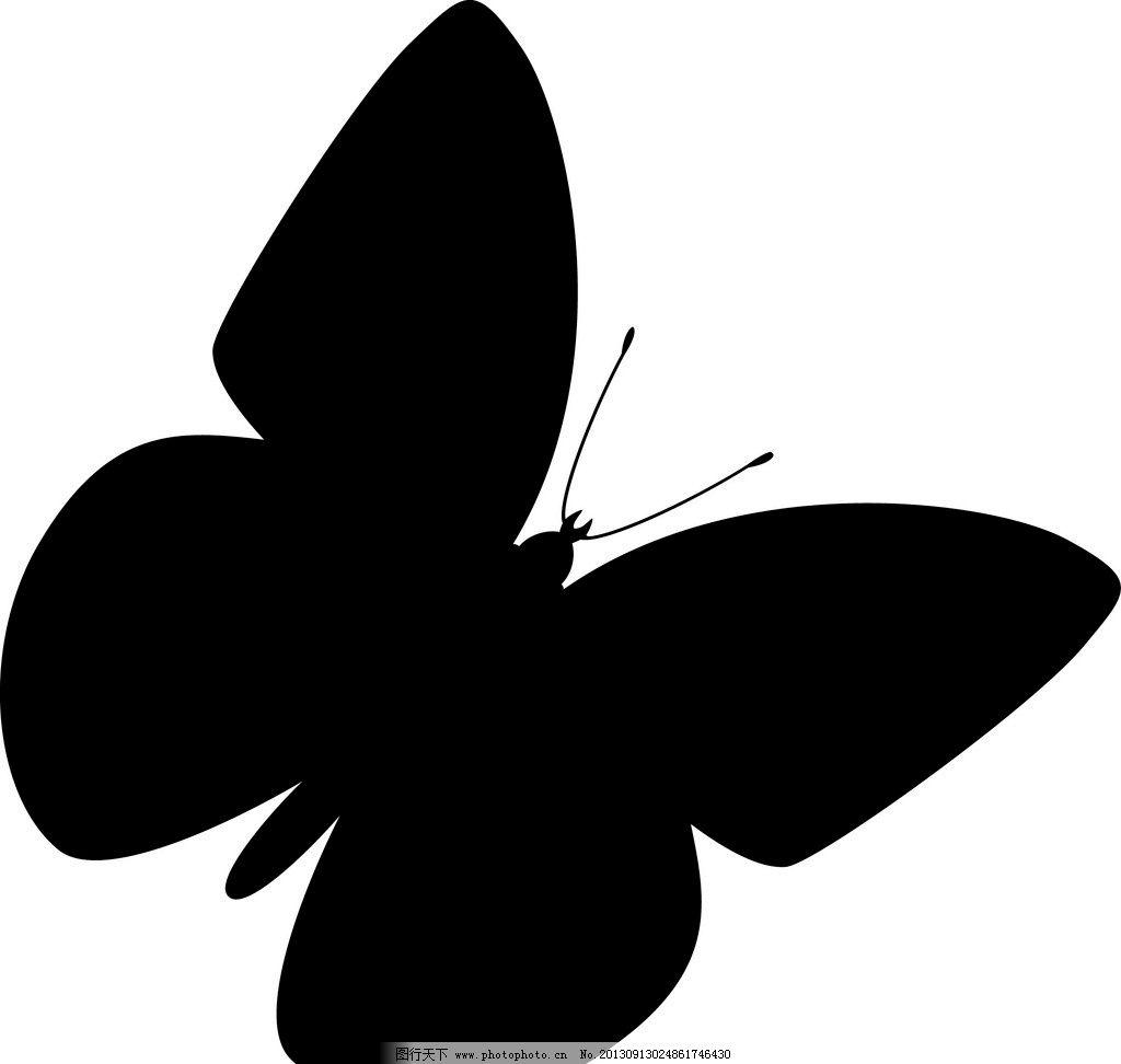 蝴蝶 蝴蝶外形 蝴蝶剪影 无上色蝴蝶 蝴蝶边框 昆虫 生物世界 矢量 ai