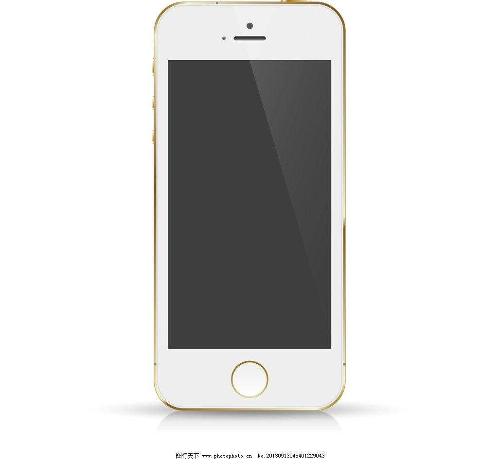 蘋果iphone5s 效果圖 手機 金色 通訊科技 現代科技 矢量