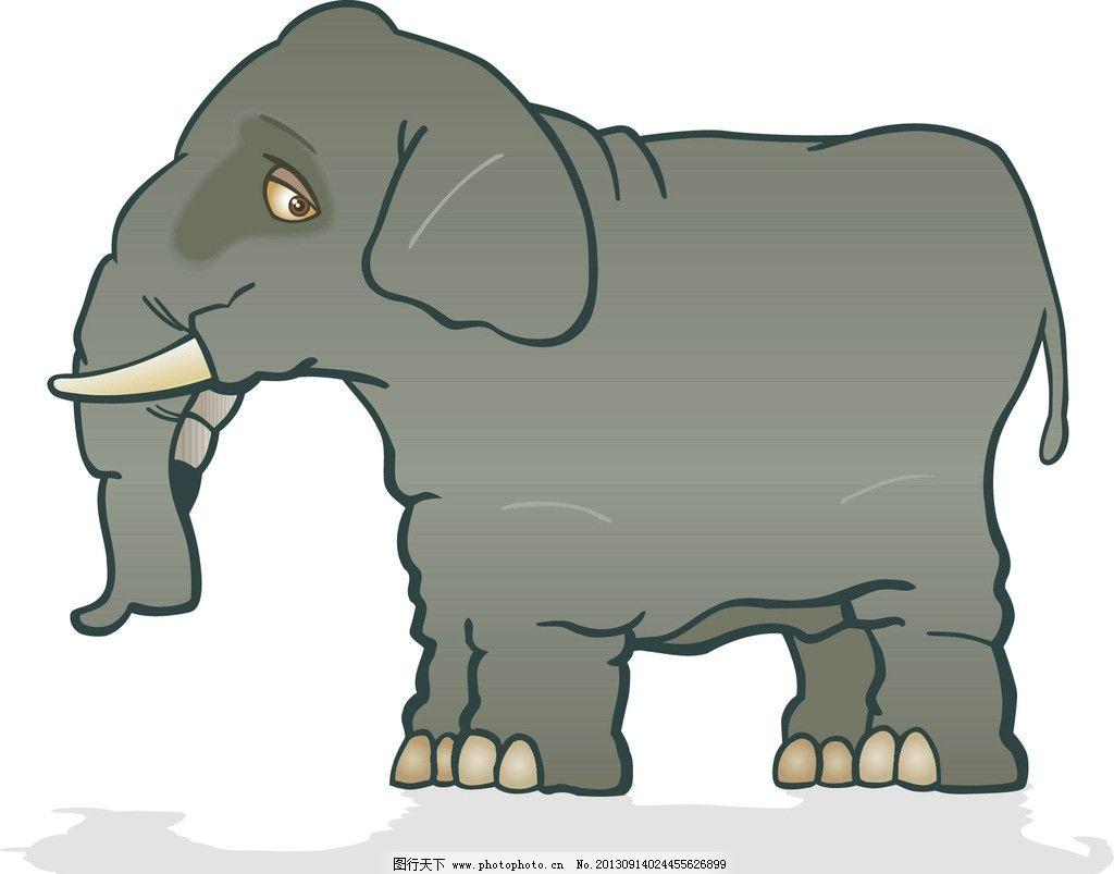 大象 可爱的大象 卡通大象 卡通动物形象 动物 野生动物 生物世界