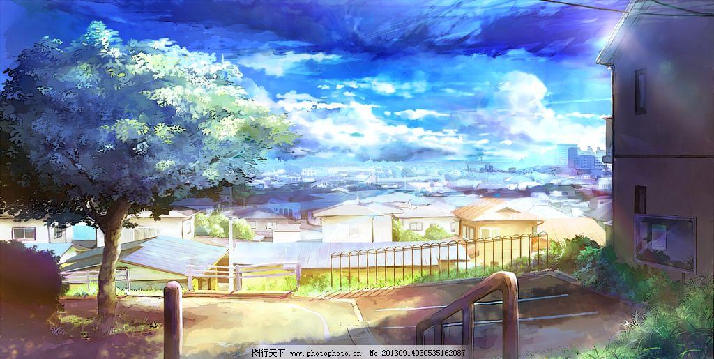 风景场景 场景 动漫 手绘 设计 壁纸 树木 风景漫画 动漫动画 28dpi p