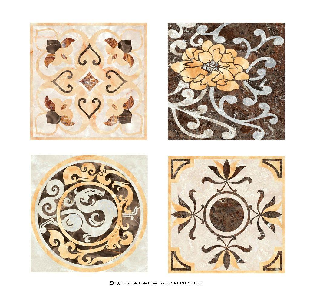 欧式风格 花纹 底纹 花 室内拼花 图案 拼花素材 室内设计 石砖 石材