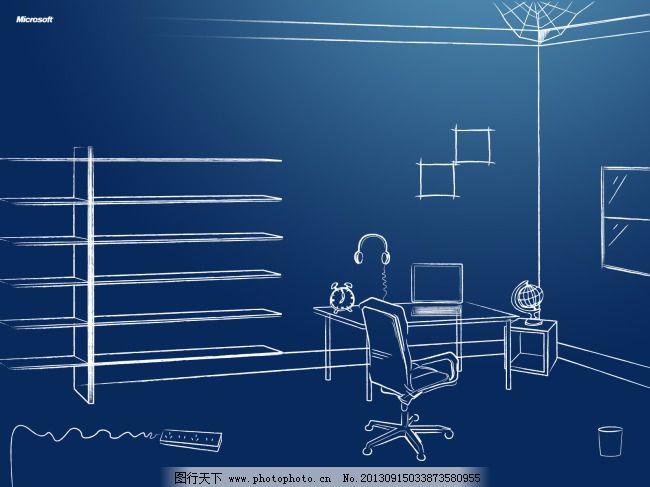 用笔画3d立体画_办公室3d立体简笔画