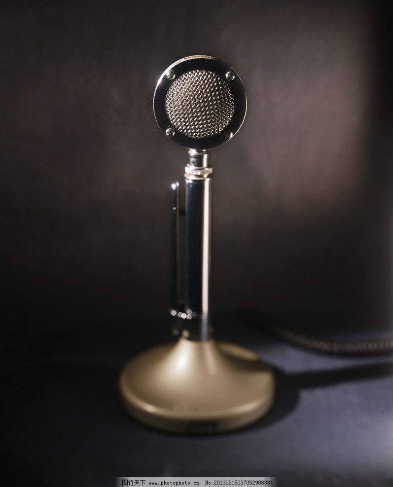 复古话筒 广播 话筒 老旧 复古 印象 生活素材 生活百科 摄影 300dpi