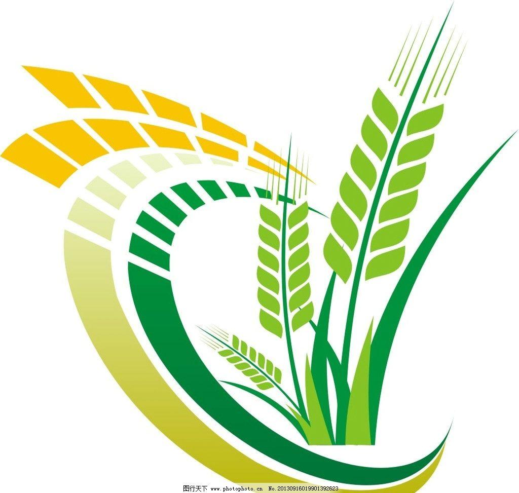 麦穗 小麦 标志 cdr 矢量 矢量小麦 手绘 绿色小麦 企业logo标志 标识
