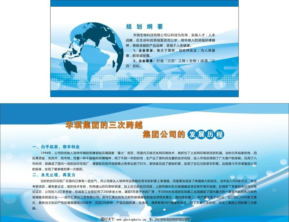 发展规划 生物科技 展版设计 排版设计 发展历程 企业规划 广告设计