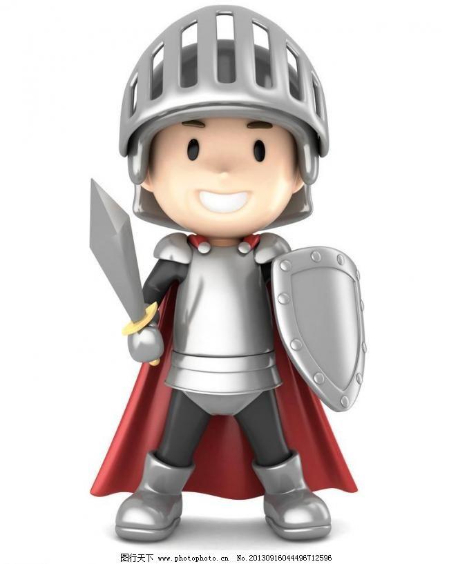 3d小人模板下载 3d小人 人物 3d人物 ppt素材 盔甲 讨论 3d设计 武士