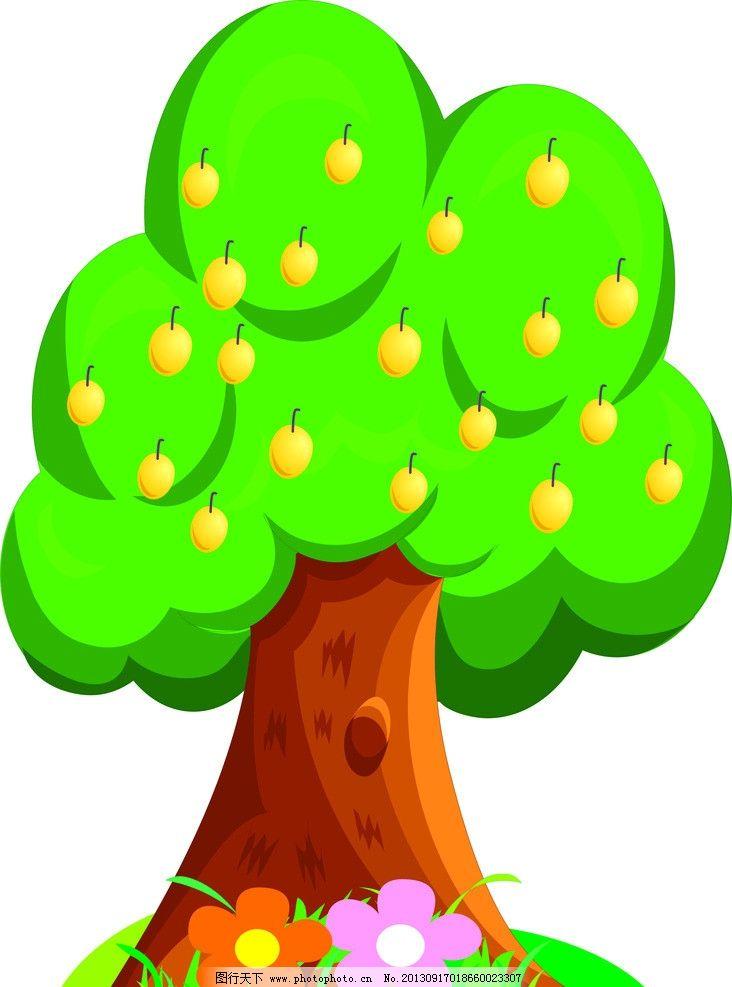 卡通树 树 小树 绿色 幼儿