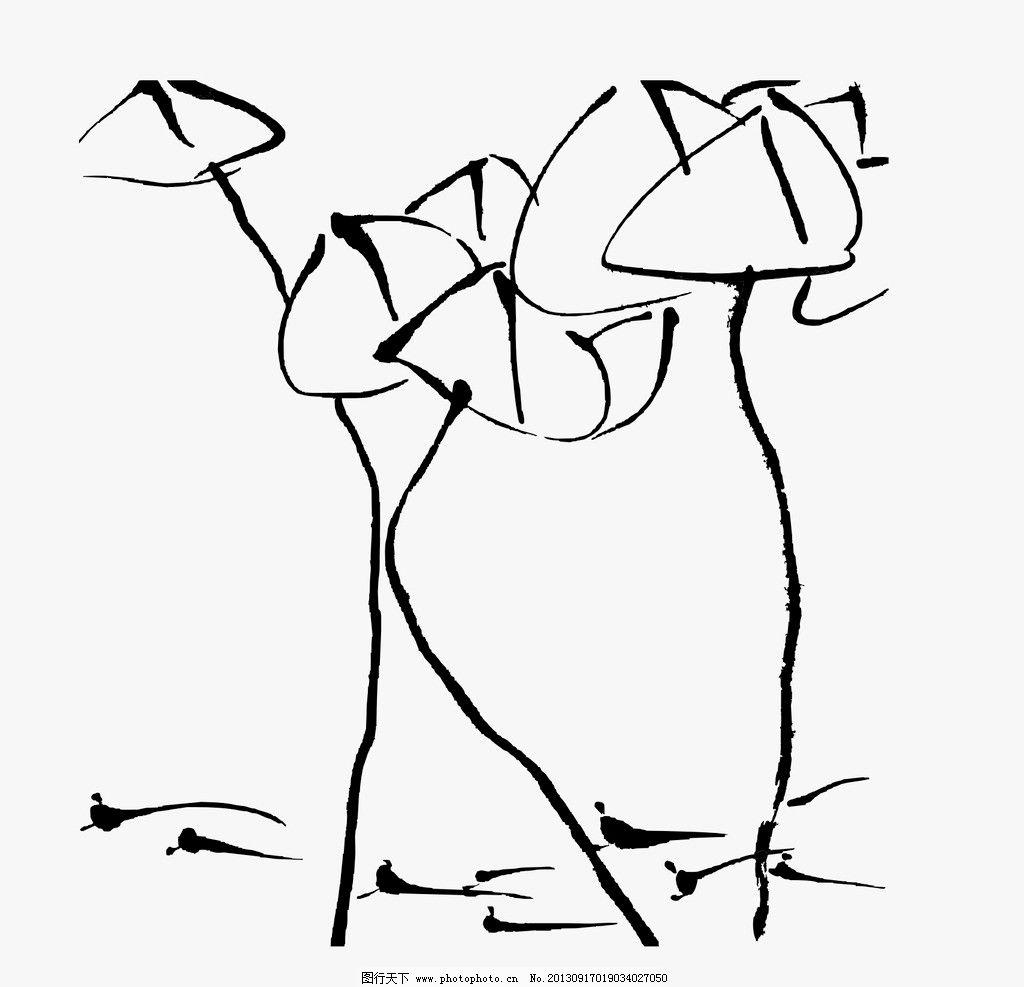小学四年级美术荷花简笔画