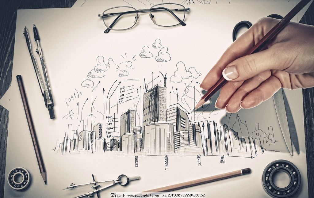 未来畅想 手绘 描绘 手绘画 素描 眼睛 中国梦 设计 质感 画笔 铅笔