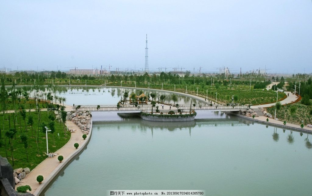 公园 小游园 水上公园 小桥 树木 风景图 自然风景 自然景观 摄影 72d