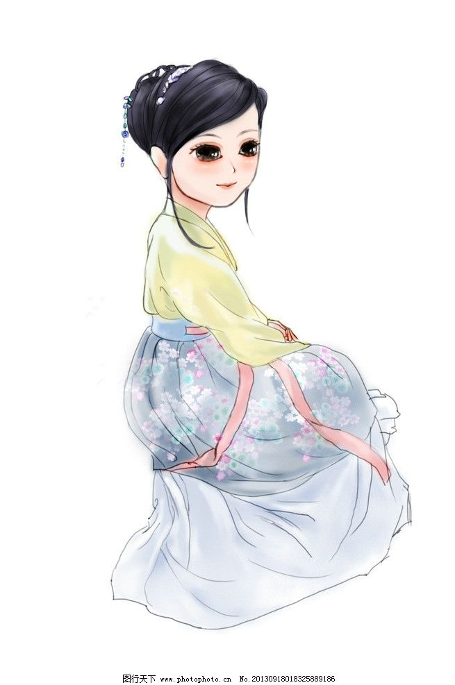 汉服服装设计手绘图片展示