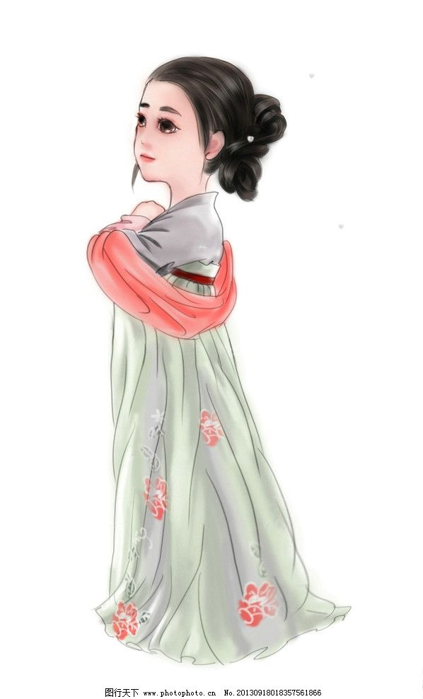 汉服服装设计手绘图片图片