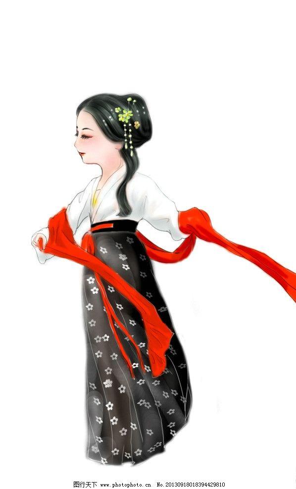 手绘 人物 q版 古装 汉服 动漫人物 动漫动画 设计 72dpi jpg