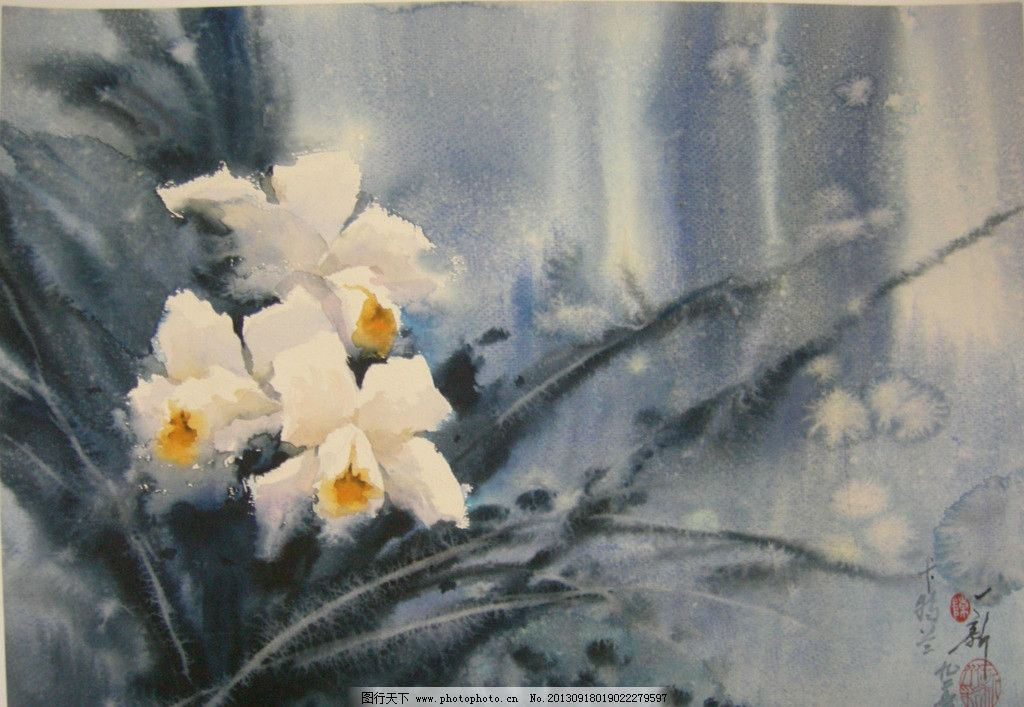 植物水彩画图片