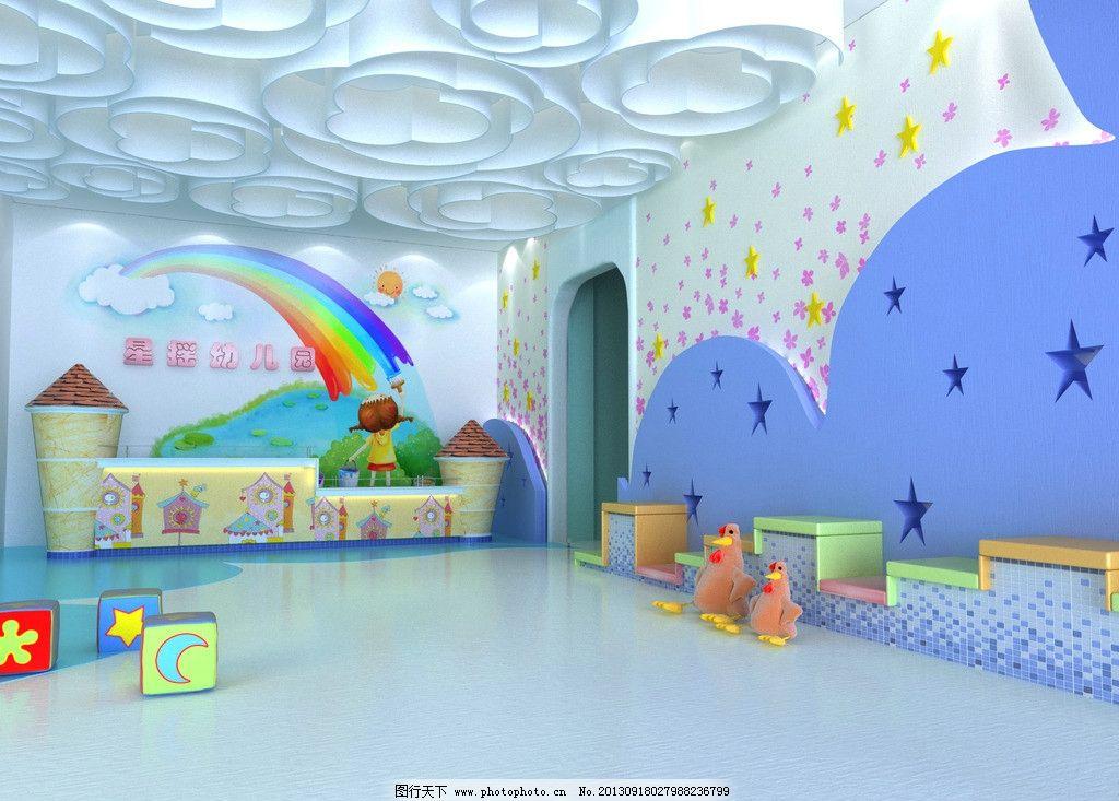 幼儿园大堂 幼儿园 大堂 服务台 毕业设计        室内设计 环境设计