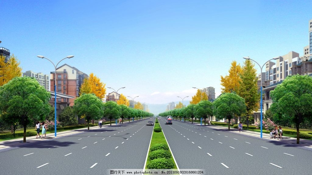 公路效果图图片_景观设计_环境设计_图行天下图库